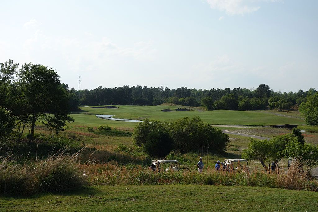 16th Hole at Legends Resort (Heathland) (447 Yard Par 4)