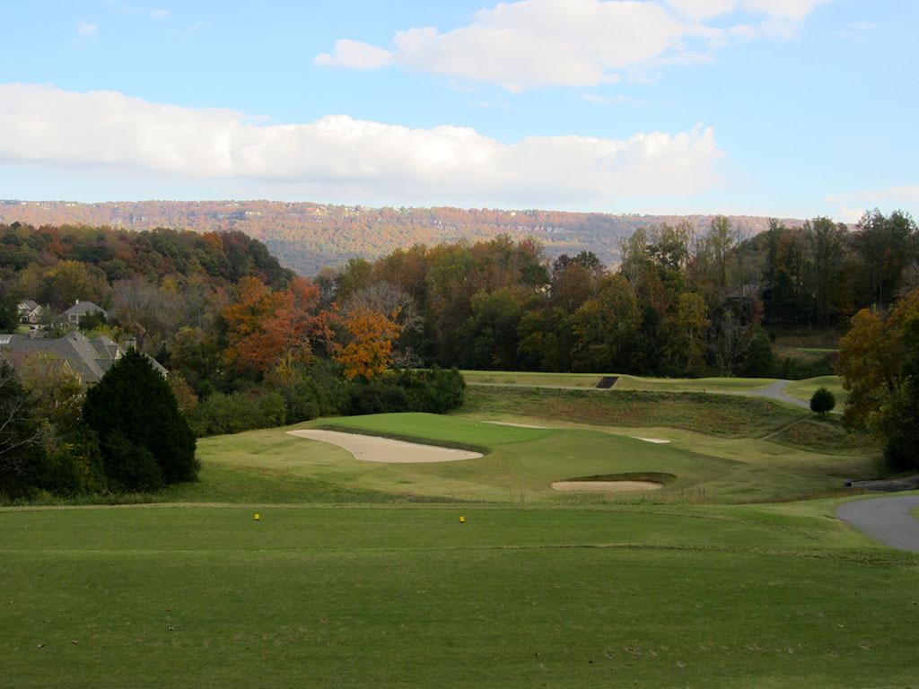 11th (Redan) Hole at Black Creek Golf Club (195 Yard Par 3)