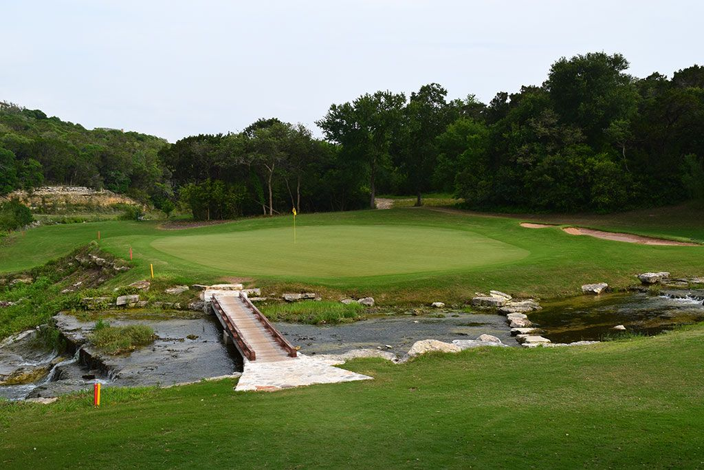 10th Hole at Barton Creek Resort (Fazio Canyons) (442 Yard Par 4)