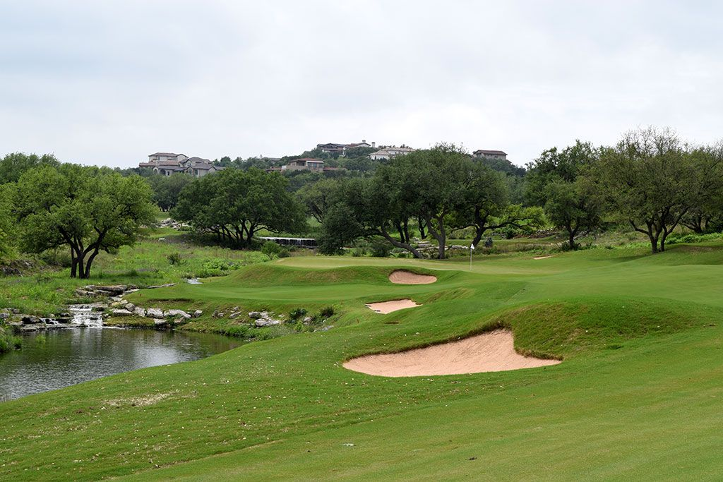 17th Hole at Spanish Oaks Golf Club (545 Yard Par 5)