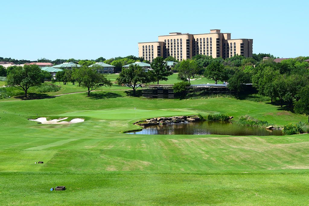 17th Hole at TPC Las Colinas (198 Yard Par 3)