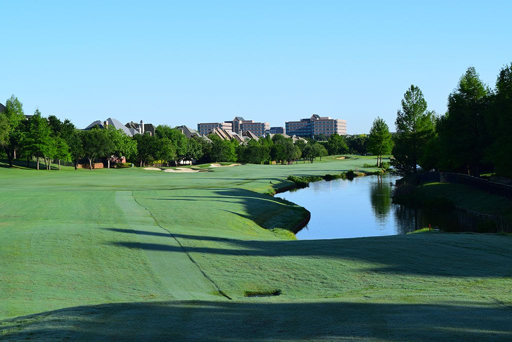 3rd Hole at TPC Las Colinas (528 Yard Par 4)