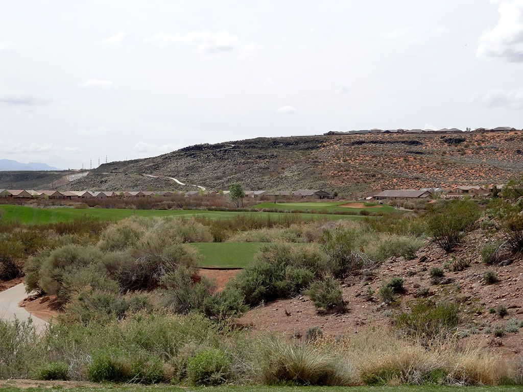 15th Hole at Coral Canyon Golf Course (488 Yard Par 4)