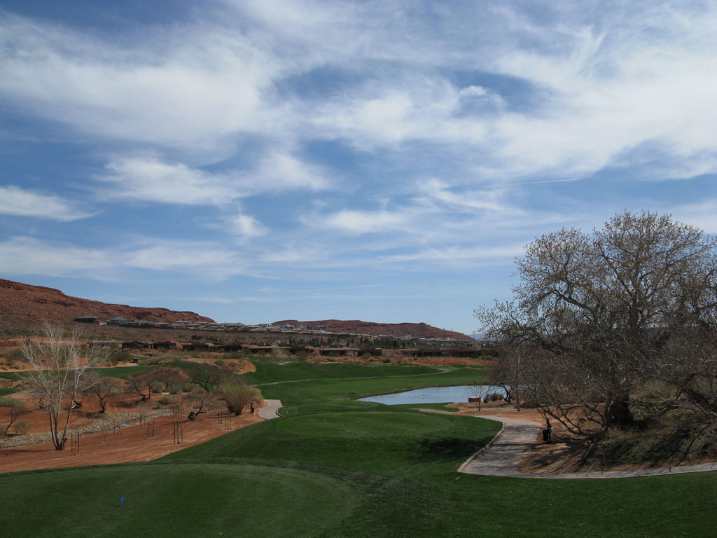 2nd Hole at Entrada at Snow Canyon (410 Yard Par 4)