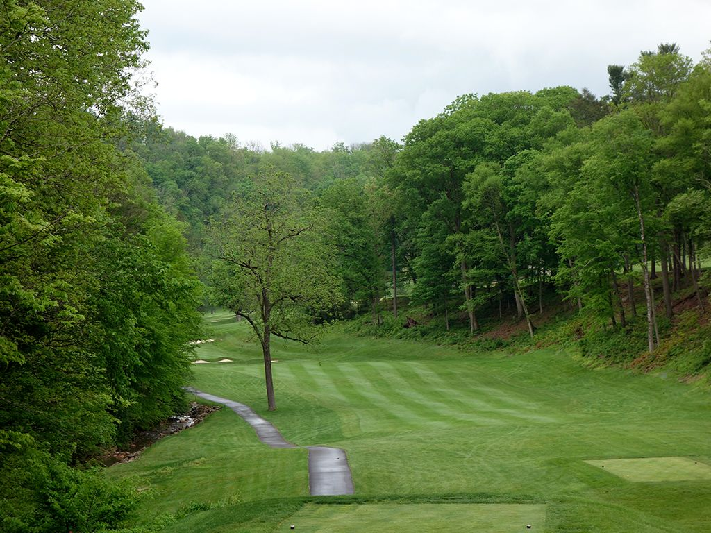 12th Hole at Cascades Golf Course at Omni Homestead Resort (476 Yard Par 4)