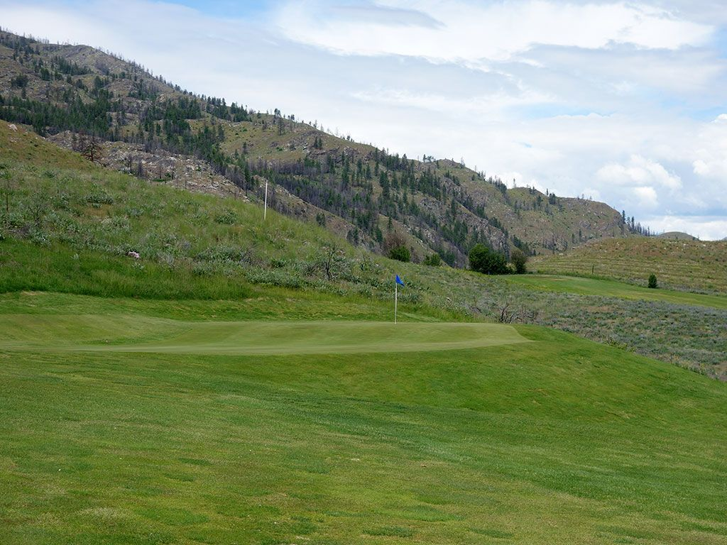 17th Hole at Alta Lake Golf Resort (545 Yard Par 5)
