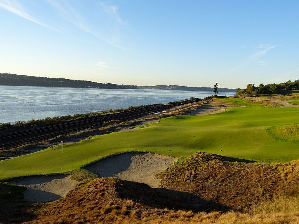 16th Hole at Chambers Bay Golf Club (425/396 Yard Par 4)