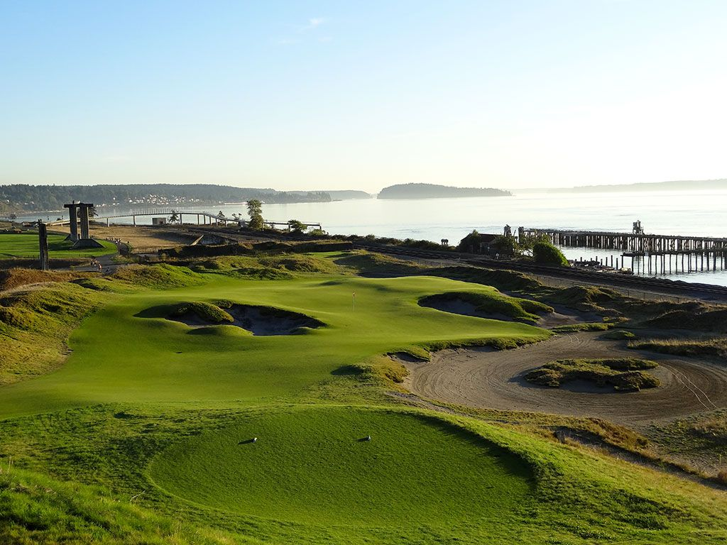 17th Hole at Chambers Bay Golf Club (206/172 Yard Par 3)