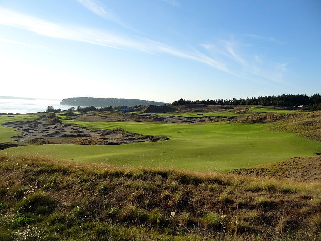 4th Hole at Chambers Bay Golf Club (568/530 Yard Par 5)