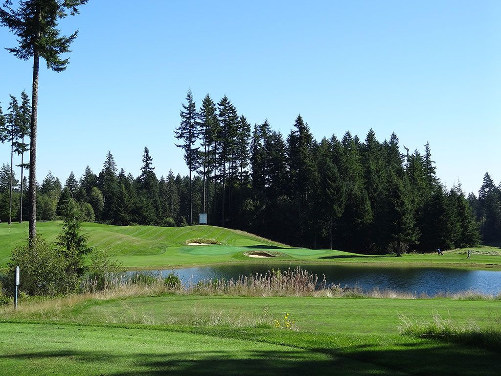 16th Hole at Gold Mountain (Olympic) (188 Yard Par 3)