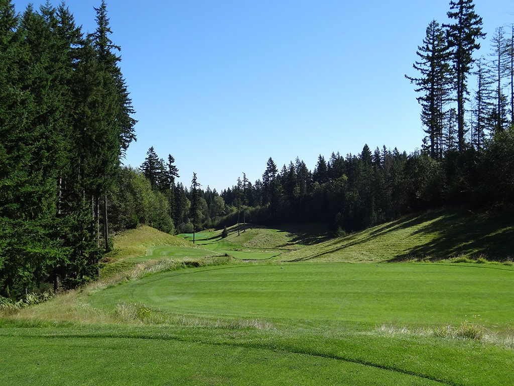 17th Hole at Gold Mountain (Olympic) (467 Yard Par 4)
