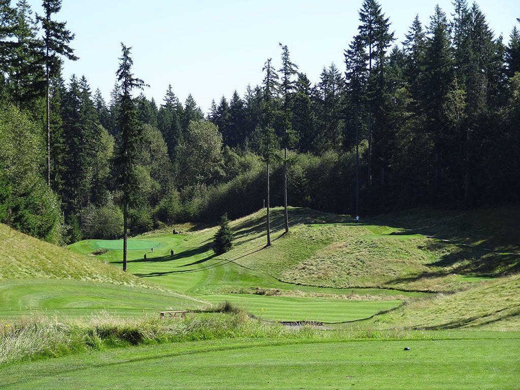 17th Hole at Gold Mountain Golf Club (Olympic) (467 Yard Par 4)