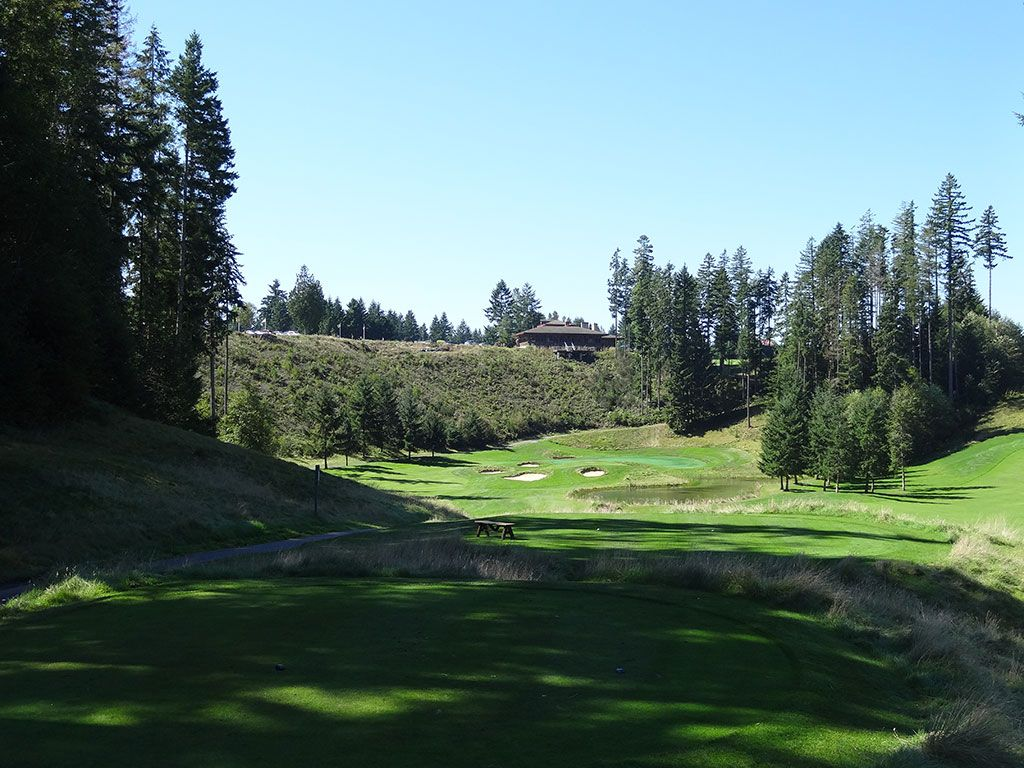 18th Hole at Gold Mountain (Olympic) (325 Yard Par 4)