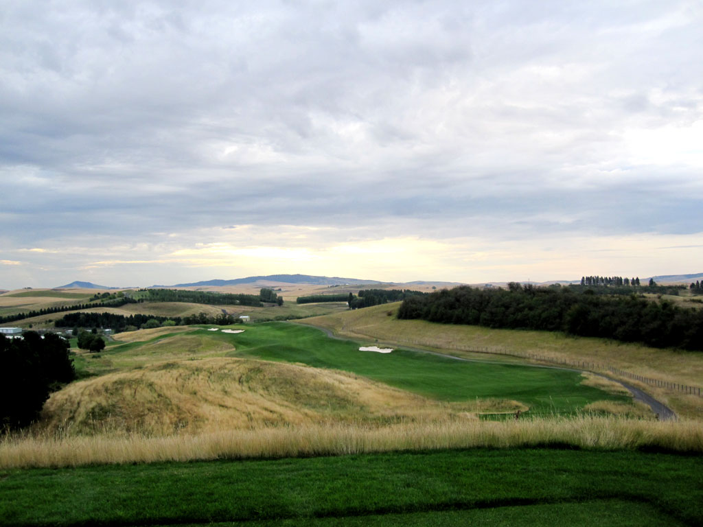 3rd Hole at Palouse Ridge (484 Yard Par 4)