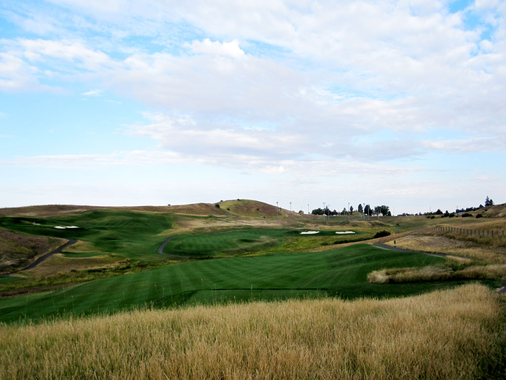 5th Hole at Palouse Ridge (589 Yard Par 5)