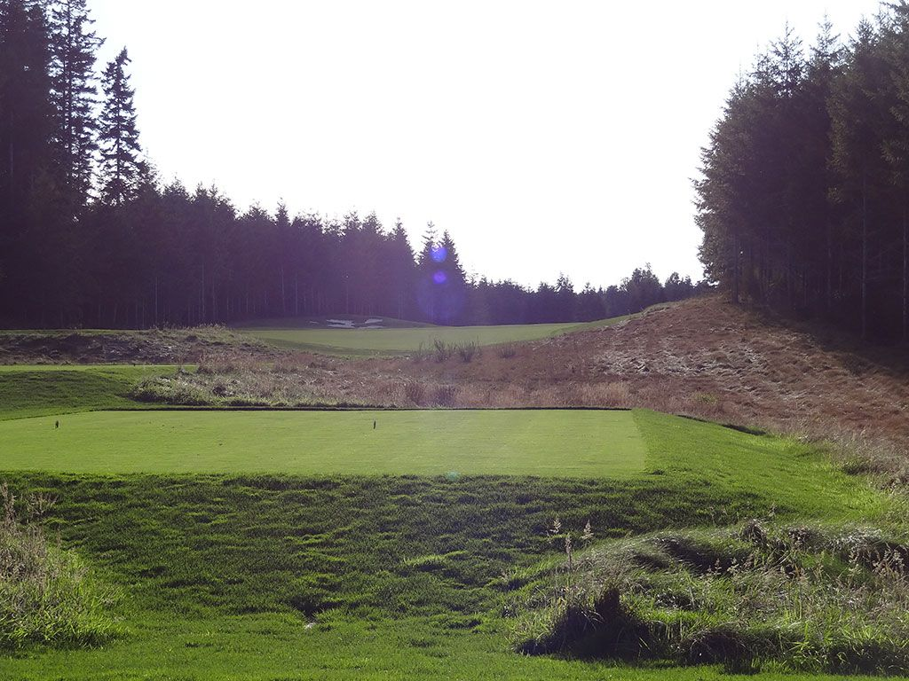 14th Hole at Salish Cliffs Golf Club (437 Yard Par 4)