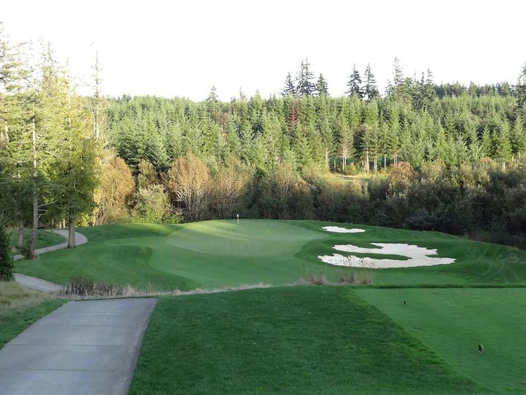 17th Hole at Salish Cliffs Golf Club (161 Yard Par 3)