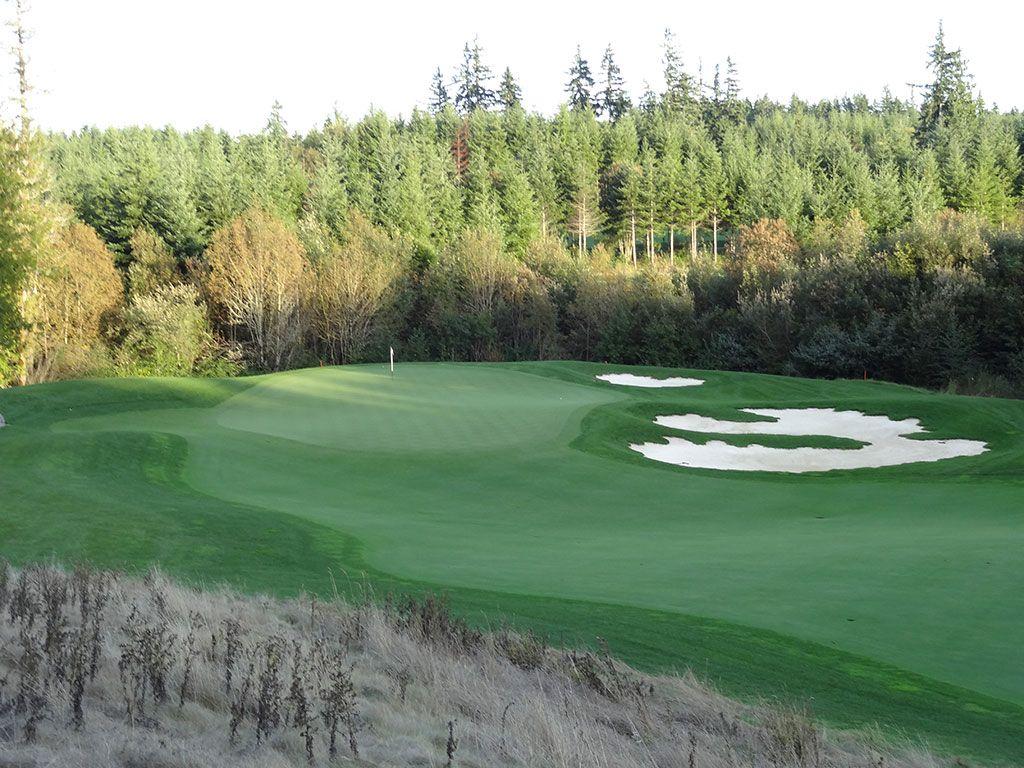 17th Hole at Salish Cliffs Golf Club (161 Yard Par 3)