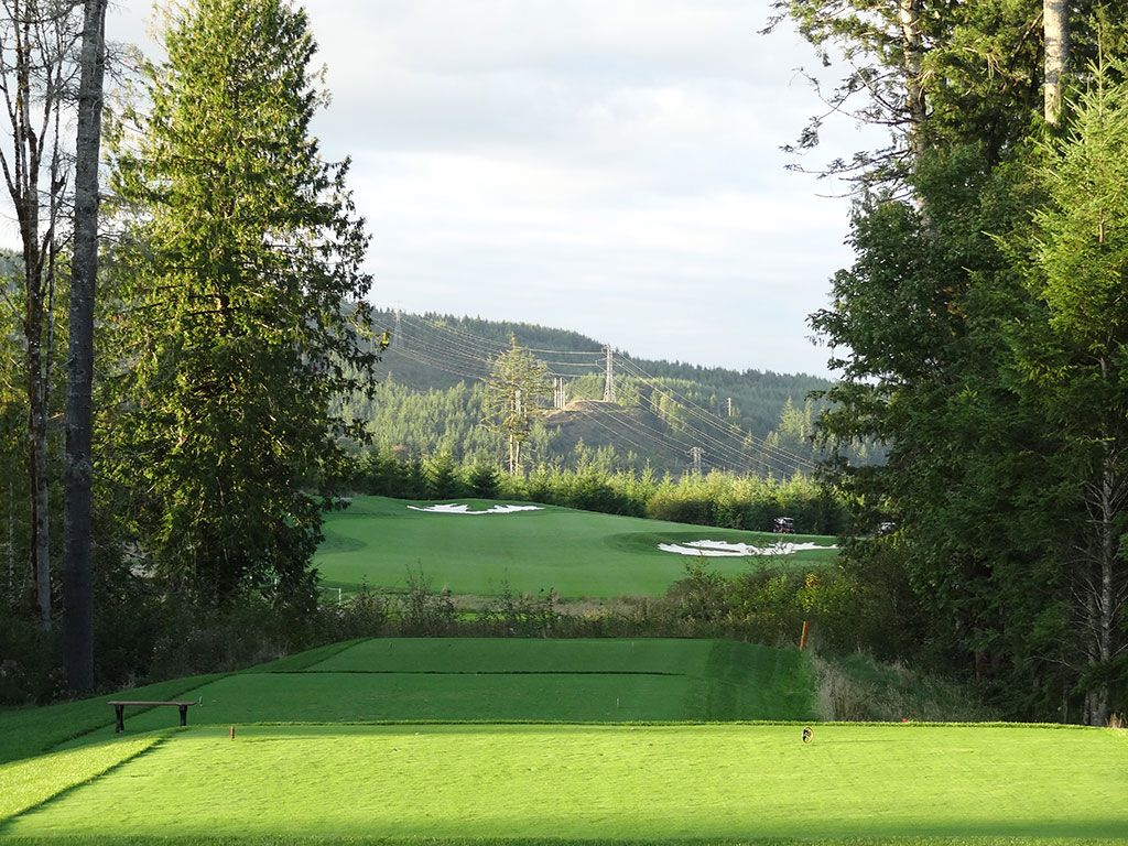 18th Hole at Salish Cliffs Golf Club (537 Yard Par 5)
