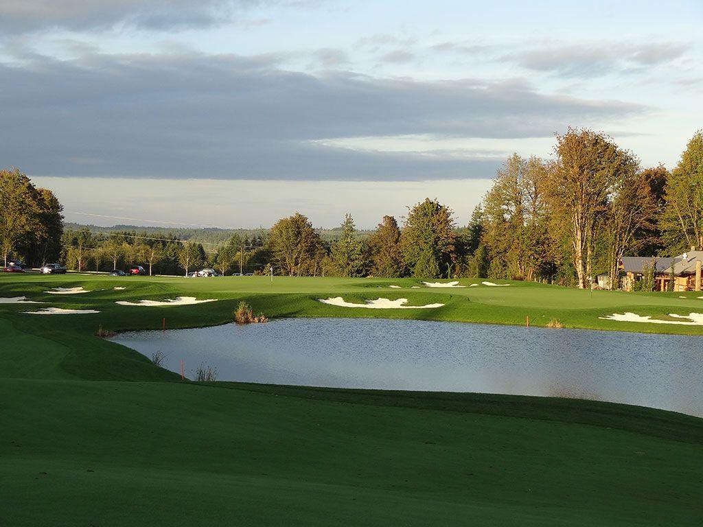 18th Hole at Salish Cliffs Golf Club (537 Yard Par 5)