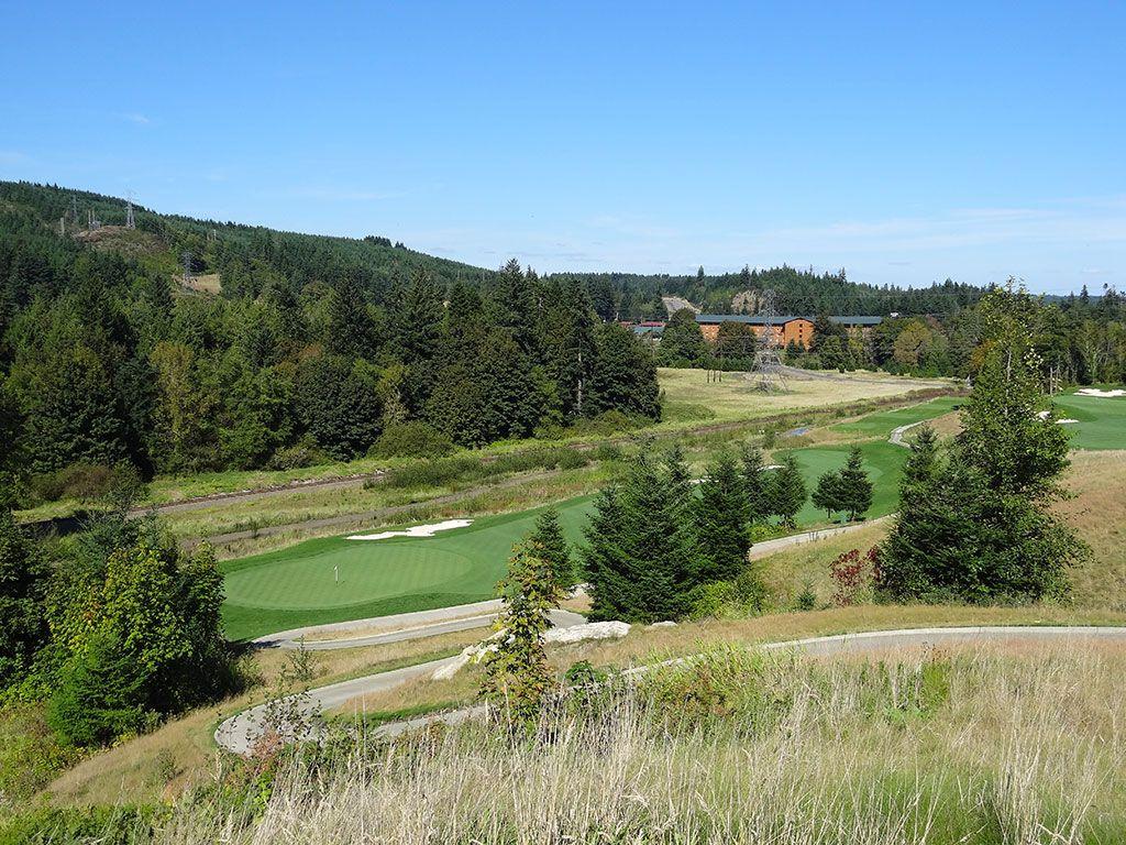2nd Hole at Salish Cliffs Golf Club (305 Yard Par 4)