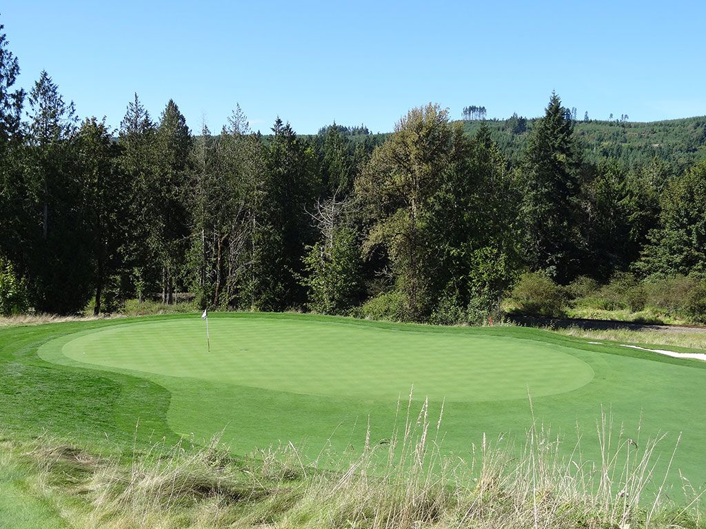 2nd Hole at Salish Cliffs Golf Club (305 Yard Par 4)