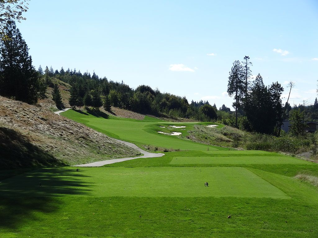 2nd Hole at Salish Cliffs Golf Club