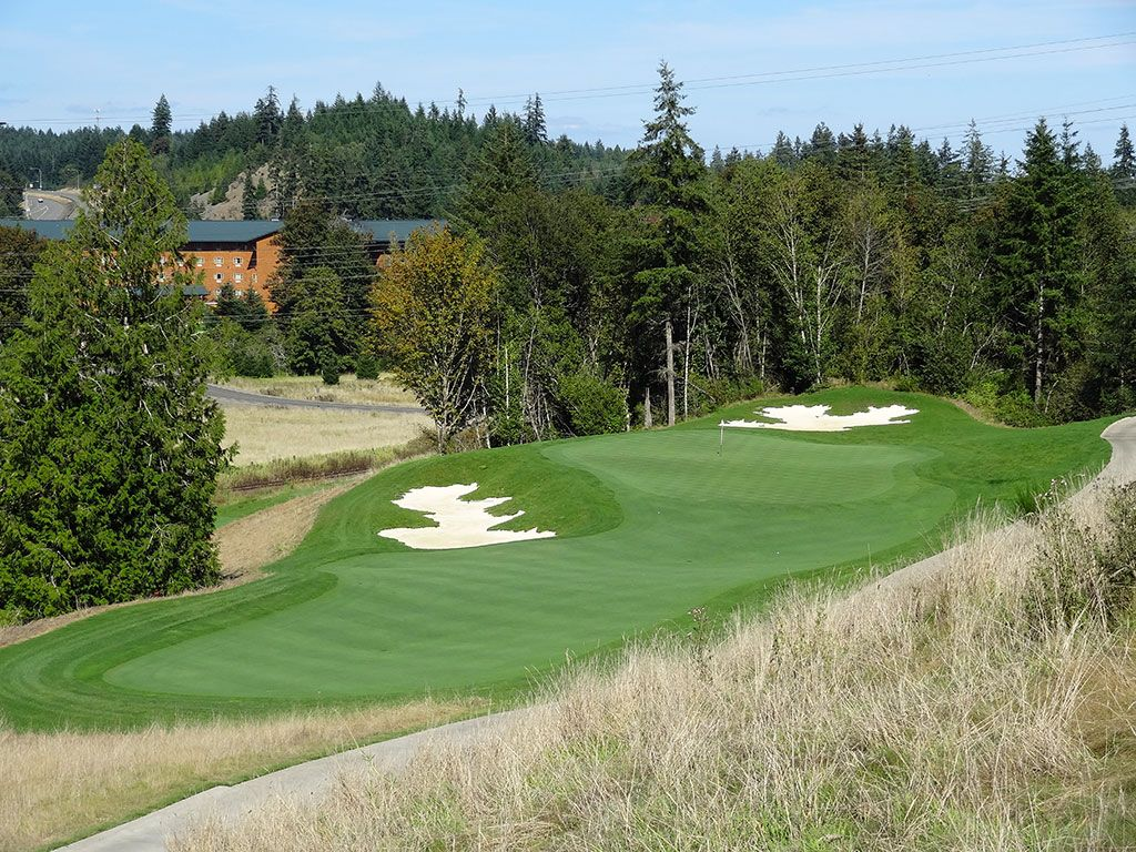 3rd Hole at Salish Cliffs Golf Club (291 Yard Par 3)