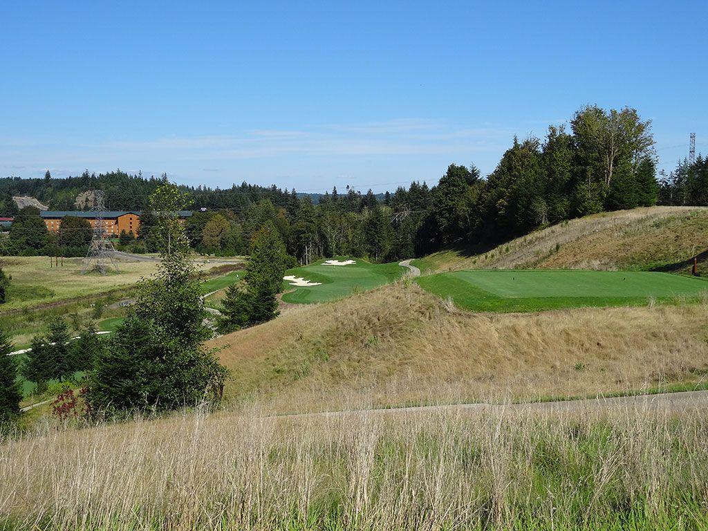 3rd Hole at Salish Cliffs Golf Club (291 Yard Par 3)
