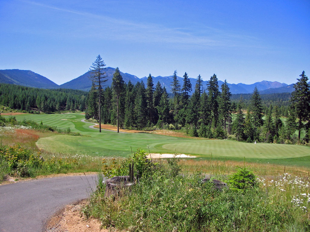 18th Hole at Tumble Creek (485 Yard Par 4)