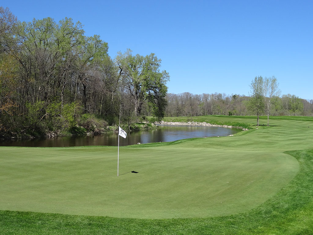11th Hole at Blackwolf Run (River) (621 Yard Par 5)