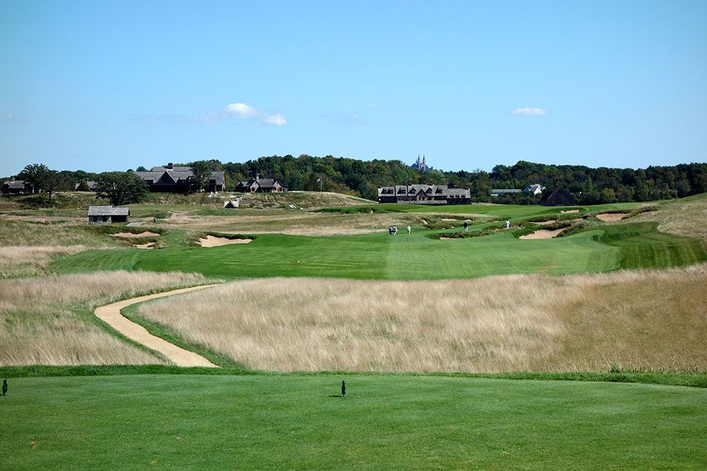 18th Hole at Erin Hills Golf Course (660 Yard Par 5)