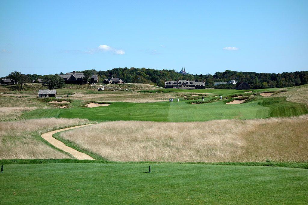 18th Hole at Erin Hills Golf Course (660 Yard Par 5)