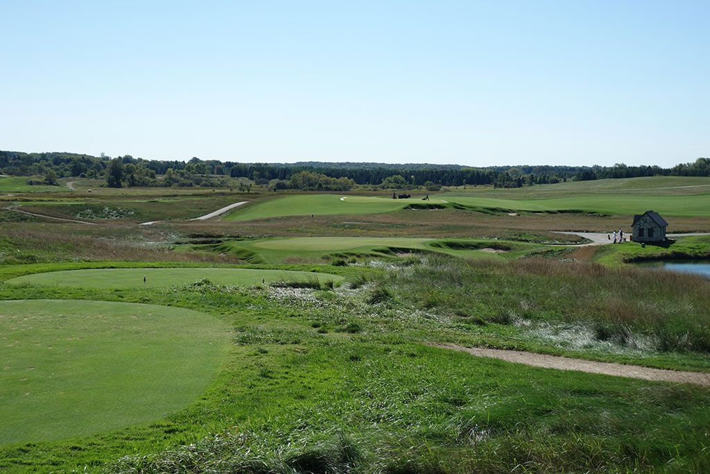 9th Hole at Erin Hills Golf Course (165 Yard Par 3)