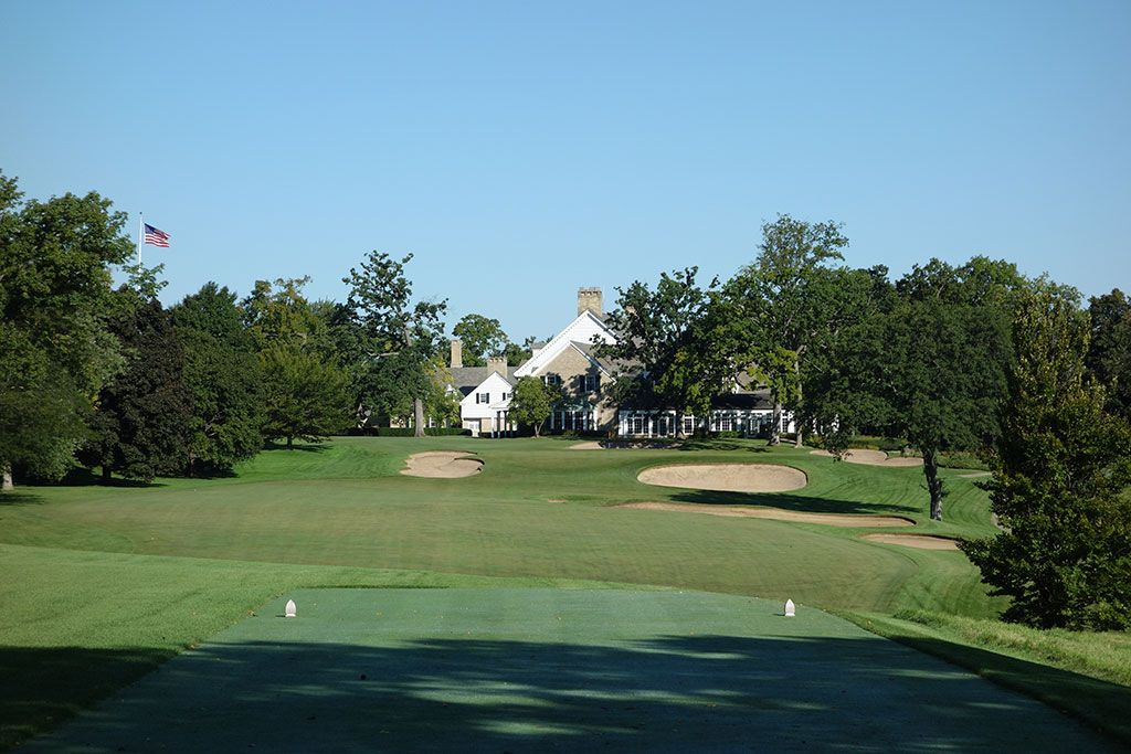 9th Hole at Milwaukee Country Club (325 Yard Par 4)