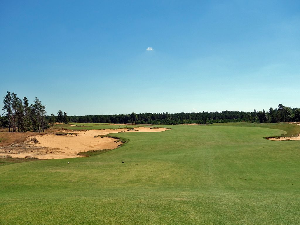 6th Hole at Sand Valley (455 Yard Par 4)