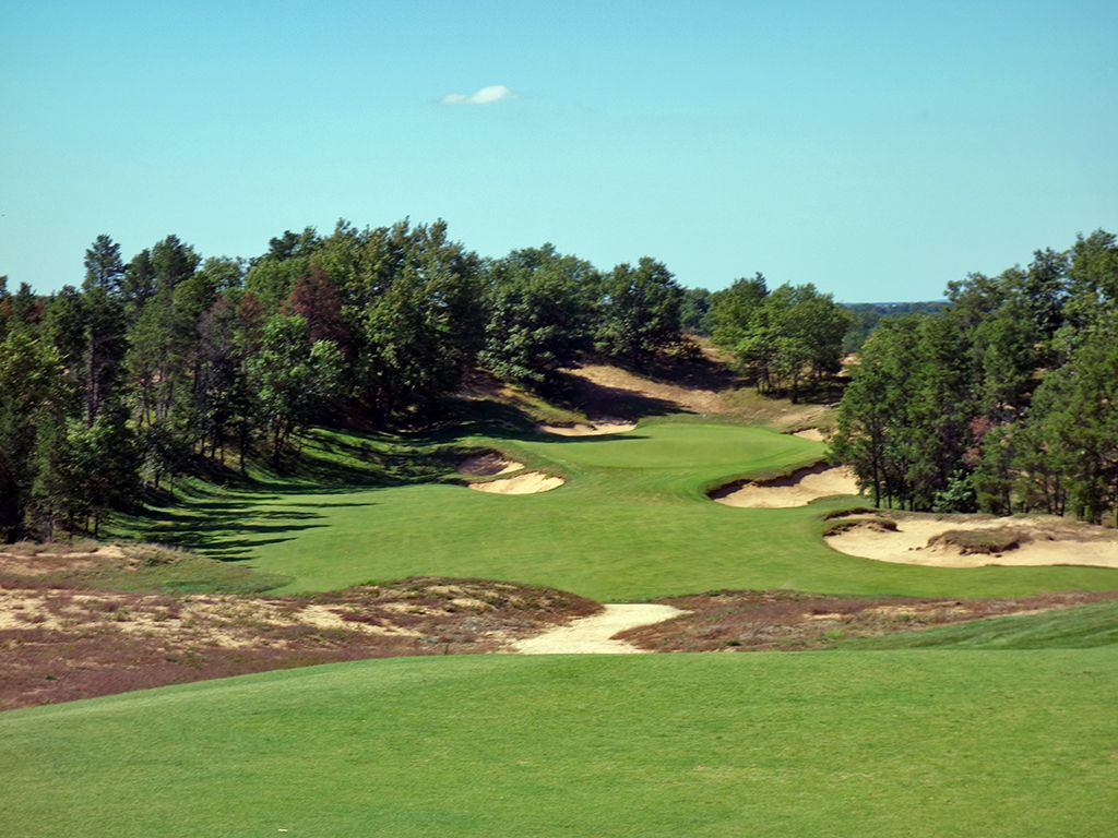 9th Hole at Sand Valley (305 Yard Par 4)
