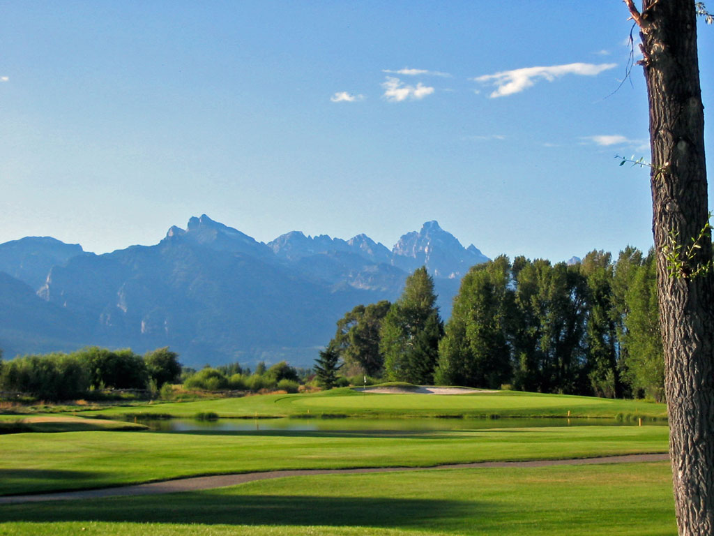 13th Hole at Jackson Hole Golf and Tennis (169 Yard Par 3)