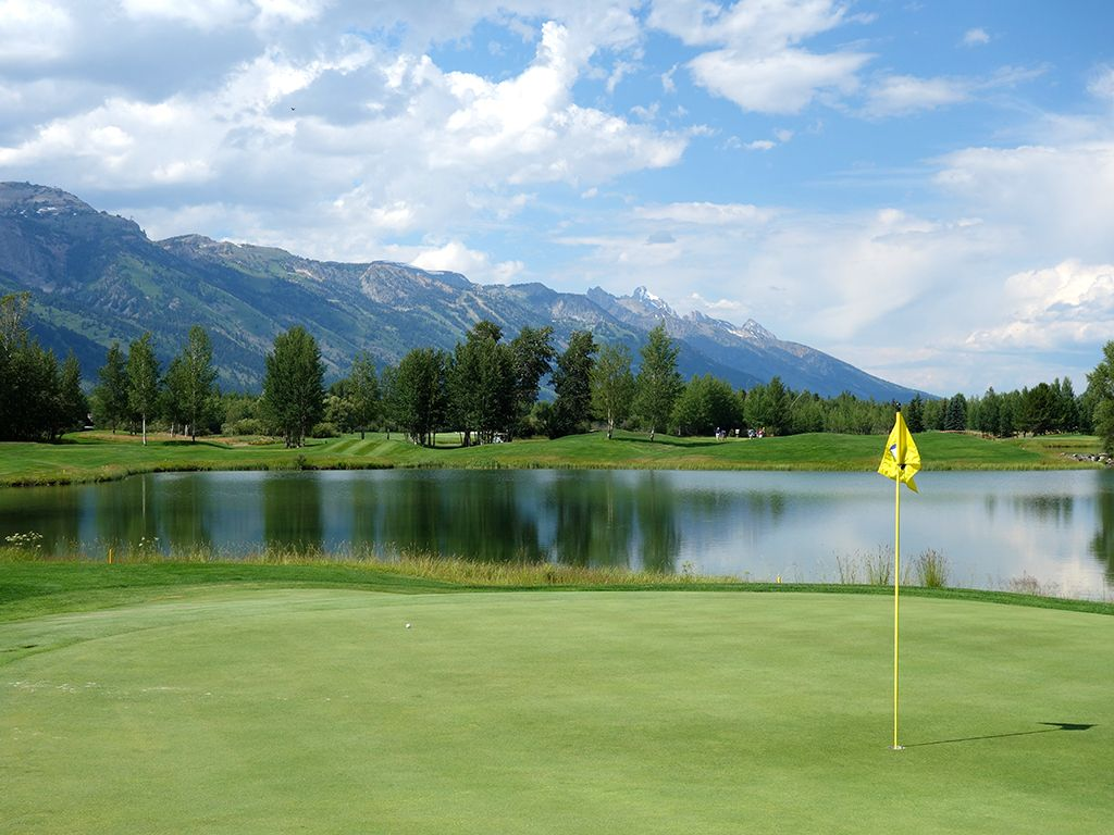 12th Hole at Teton Pines Country Club (221 Yard Par 3)